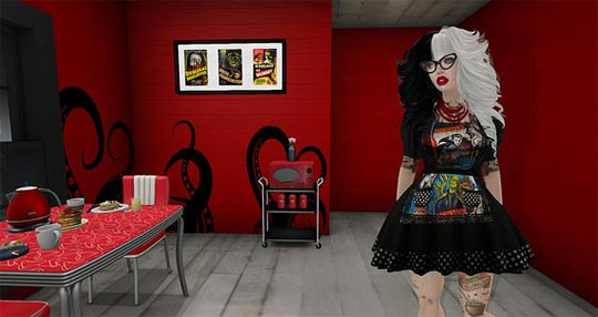 A Retro Kitchen in Second Life