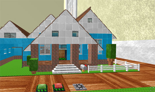 Roblox virtual worlds land Create a house game