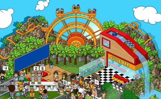 Fairground in Habbo Hotel
