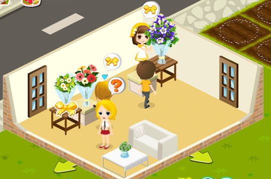 Customized Arrangements and Receiving Space in Flower Shop Fun