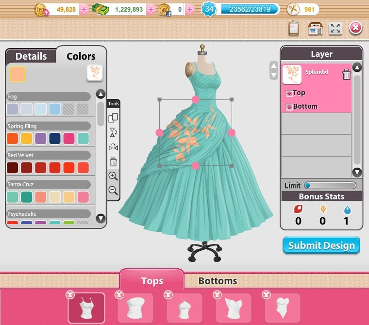 Design Clothes Games Design dresses in Fashion