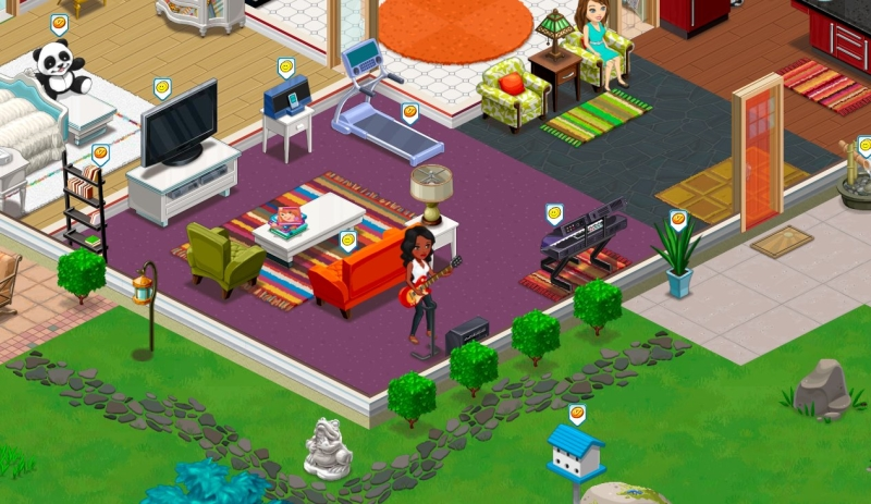 The ville virtual worlds land for Online games similar to sims