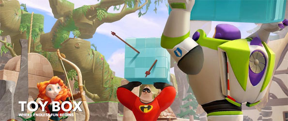 Disney Infinity: Toy Box - Create your world with your favorite Disney characters and share them with your friends!