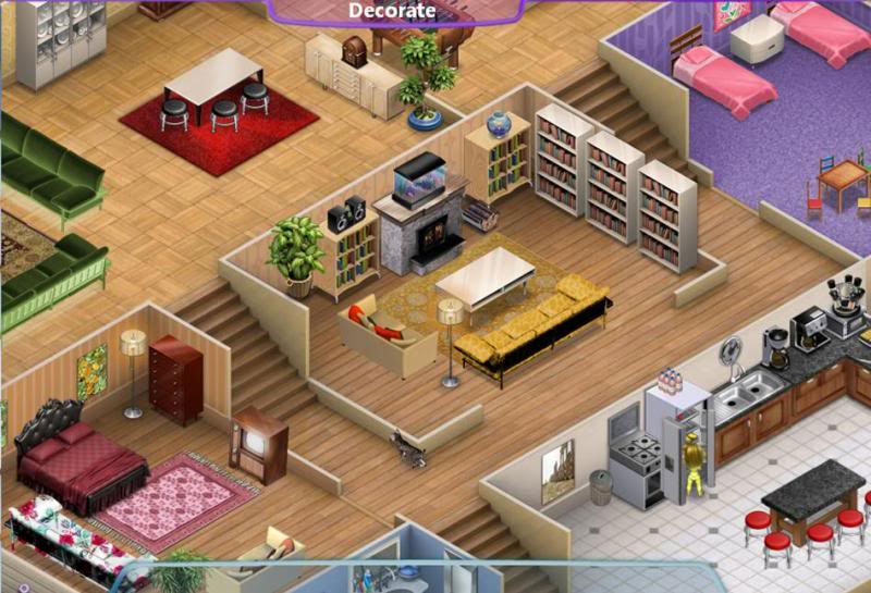 Virtual families 2 giochi di mondi virtuali for Virtual bedroom makeover