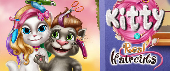 Kitty Real Haircuts - Use various salon tools, curl or dye hair, put a great color combination, trim it down, and accessorize your customer's hair in this wonderful haircut simulation game.