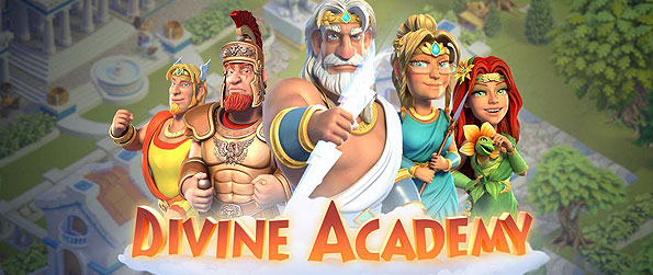 Divine Academy - n the game Divine Academy, take on the role a new and young God who is put to the test by the famous Gods of Mt. Olympus – Zeus, Athena, Hermes, Ares, and more.